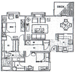 2 Bedroom / 942 sq ft
